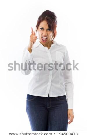 怒っ · 小さな · アジア · 女性 - ストックフォト © bmonteny