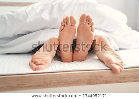 молодые · страстный · пару · любви · кровать - Сток-фото © stryjek