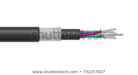 Optic and electric cable  Stock photo © smuki