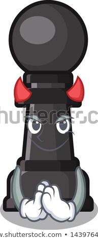 Chess Queen devil. vector illustration  Stock photo © carodi