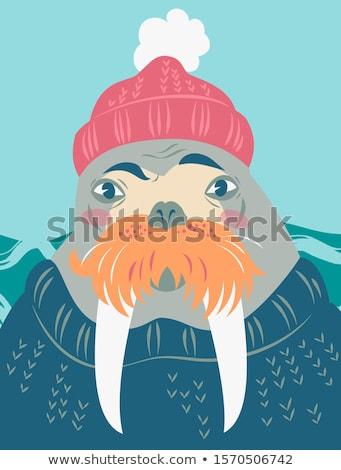 Mors denizci örnek kadın gülümseme genç Stok fotoğraf © adrenalina