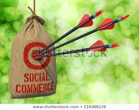 Sociale commerce pijlen target drie Rood Stockfoto © tashatuvango