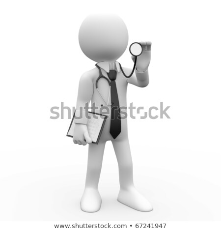 3d Doctor With Stethoscope Auscultation Stockfoto © Texelart