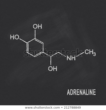 Foto stock: Blackboard With The Chemical Formula Of Adrenaline