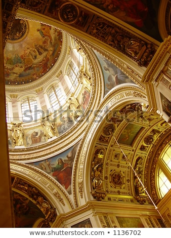 altar in saint isaacs cathedral st petersburg russia stock photo © mahout