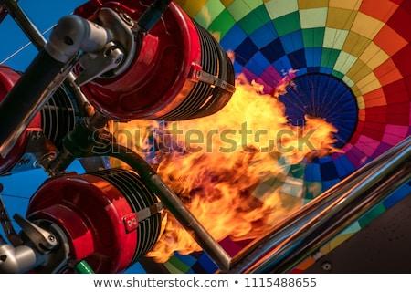 dentro · globo · de · aire · caliente · colores · azul · diversión · negro - foto stock © alex_grichenko