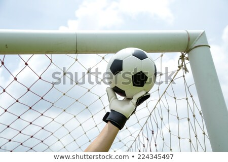 goalkeeper used hands for catches the ball stock photo © hin255