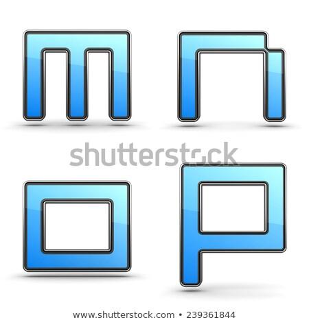 Briefe Set Touchpad Stil 3D Alphabet Stock foto © tashatuvango