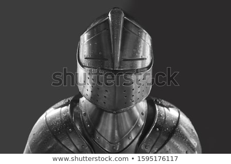 Knight heads in medieval armour Stock photo © anbuch