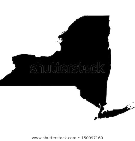 Carte New York icônes coeur pavillon cible Photo stock © retrostar