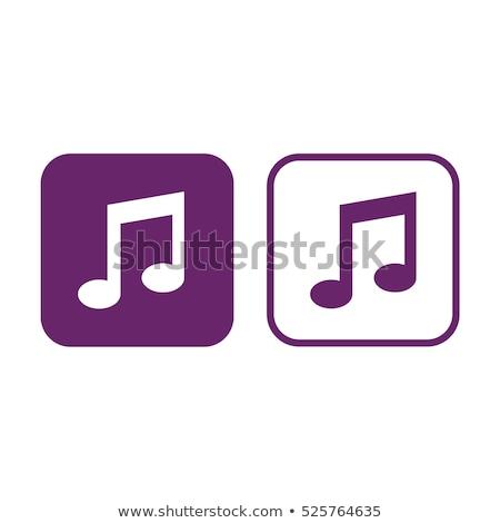 Hangjegyek lila vektor ikon gomb internet Stock fotó © rizwanali3d
