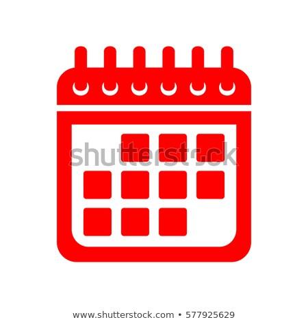 Calender Sign Red Vector Icon Button Stock photo © rizwanali3d