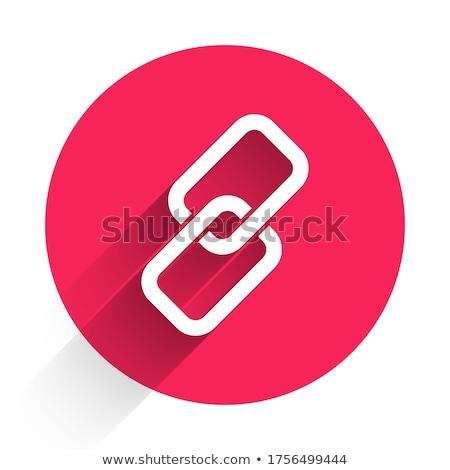 Beschermd link Rood vector icon knop Stockfoto © rizwanali3d