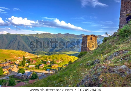 Tusheti National Park mountain village towers stock photo © Kor