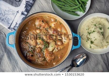 куриные · овощей · избирательный · подход · мяса · обед · пирог - Сток-фото © zoryanchik