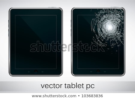 Shattered and repaired tablet screens Stock photo © ozgur