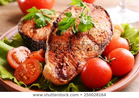 chef · hasta · alimentos · restaurante · salsa - foto stock © ozgur