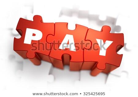 NFC - White Word on Red Puzzles. Stock photo © tashatuvango