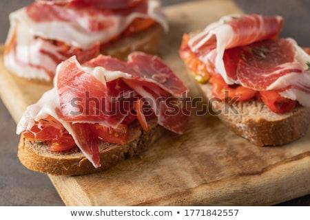 espanol · cerdo · lomo · serrano · jamón - foto stock © ingridsi