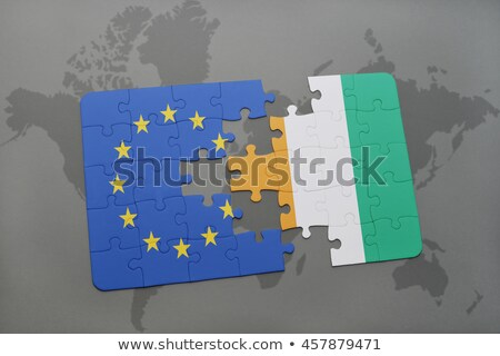 European Union and Cote Divoire Flags in puzzle Stock photo © Istanbul2009