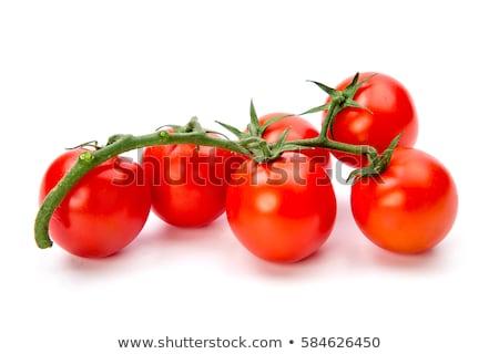Organiczny winorośli pomidorki odizolowany biały owoców Zdjęcia stock © rekemp