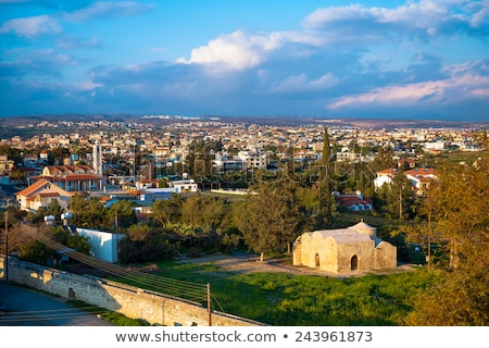 View of a village from top of Colossi castle. Limassol District. Stock photo © Kirill_M