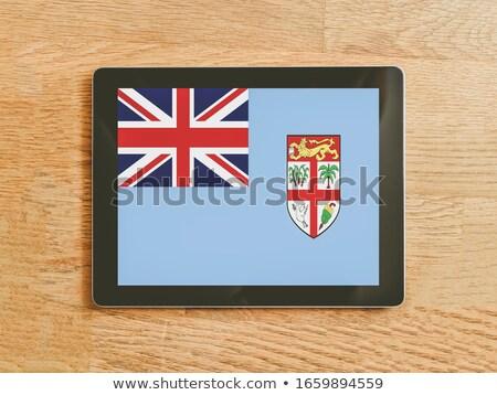 Tabletta Fidzsi-szigetek zászló kép renderelt mű Stock fotó © tang90246