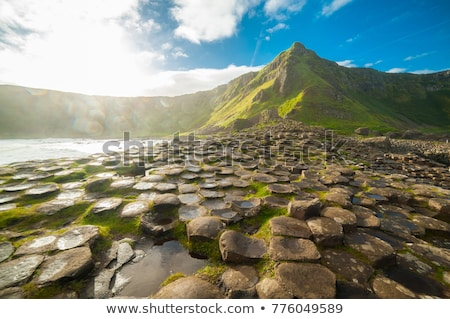 nord · Irlande · lave · roches · formation - photo stock © phbcz