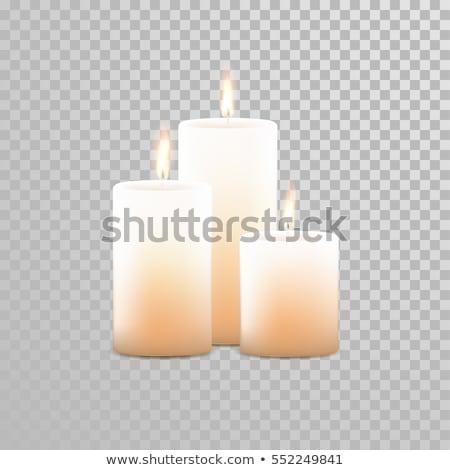 White aromatic candles. Stock photo © art9858