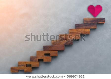 Zdjęcia stock: Miłości · kroki · para · kamienie · rzeki · wody
