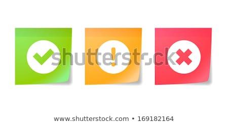 evet · yeşil · kırmızı · kampanya - stok fotoğraf © fuzzbones0