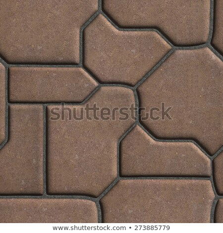 Brown Paving Slabs of the Figures Various Shapes that Mimic Natural Stone. Stock photo © tashatuvango