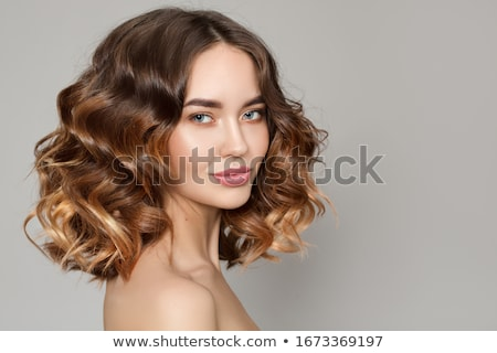 Portrait of a beautiful brown-haired girl Stock photo © bezikus