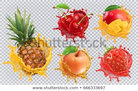Fresa frutas jardín maduro Bush verano Foto stock © H2O