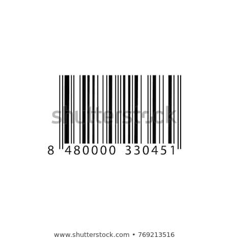 Barcode · vignette · cool · identification · loupe · papier - photo stock © nezezon