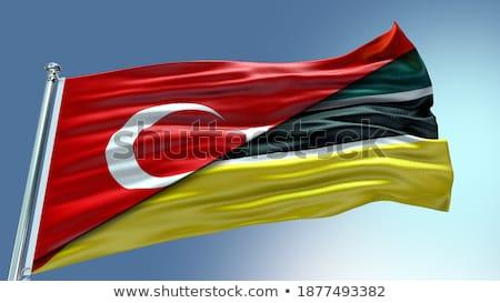 Turquía Mozambique banderas rompecabezas aislado blanco Foto stock © Istanbul2009