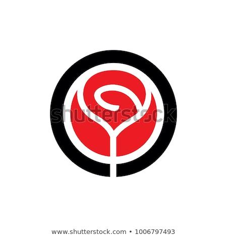 красный вектора икона дизайна технологий цифровой Сток-фото © rizwanali3d
