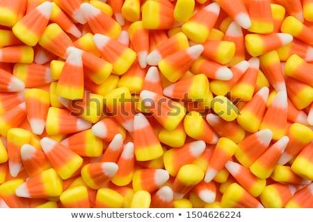 Snoep mais clipart geïsoleerd oranje najaar Stockfoto © x7vector