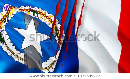 France and Northern Mariana Islands Flags Stock photo © Istanbul2009