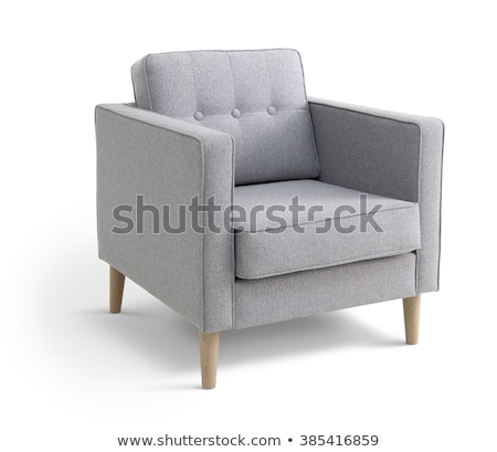 Salon · stoel · geïsoleerd · witte · meubels · zwarte
