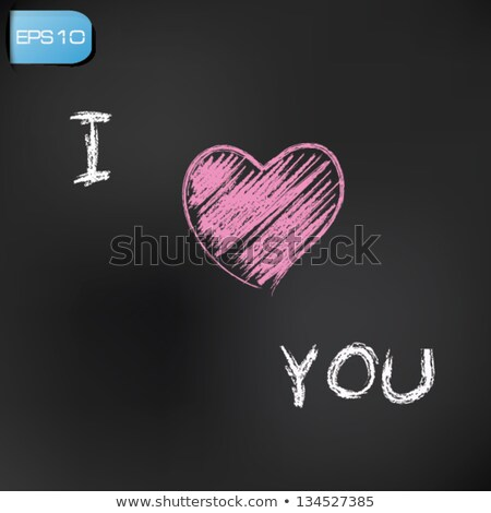 drawing i love you by a chalk stock photo © romvo