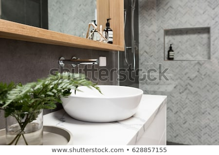 minimalistic bathroom with marble details stock photo © jrstock