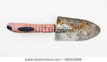 pequeño · pala · trabajo · jardín · blanco · mano - foto stock © shutswis