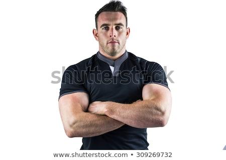 серьезный регби игрок белый спорт Сток-фото © wavebreak_media