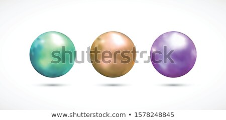 white transparent sphere with glares and highlights stock photo © Fosin
