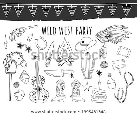 Doodle vector wild West Stock photo © netkov1