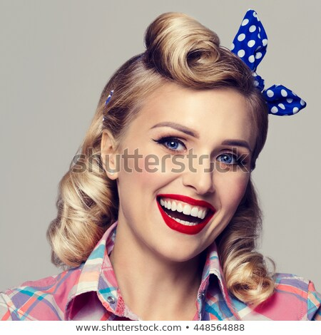 Stock photo: Young Beautiful Smiling Girls Dressed in Pin Up Style