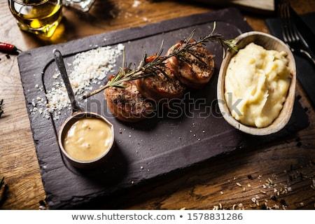 Patate affumicato carne di maiale fetta piatto pranzo Foto d'archivio © Digifoodstock