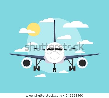 Elöl kilátás repülőgép illusztráció fehér üzlet Stock fotó © bluering