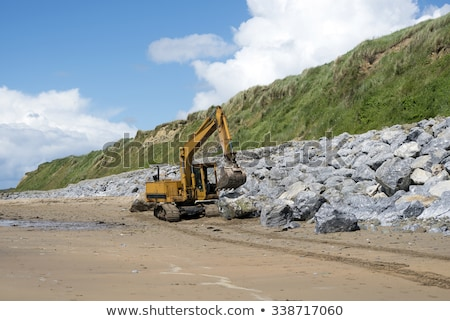 boulders at ballybunion beach Stock photo © morrbyte